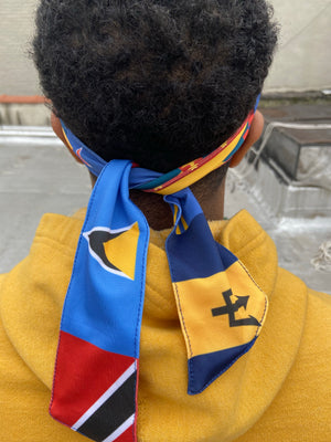 Caribbean Flag Head Wrap