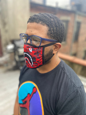 Red Fatigue Face Mask