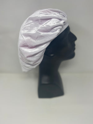 White Velvet Bonnet