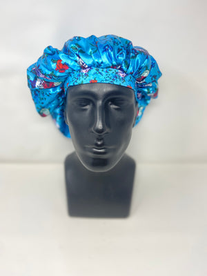 Light Blue Floral Bonnet