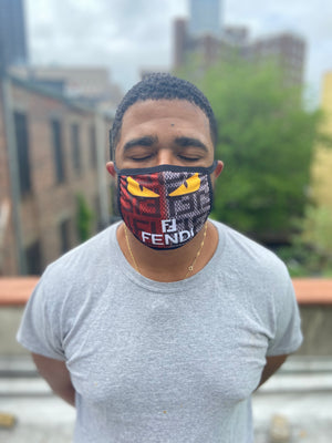 2 Tone FF Monsta Face Mask