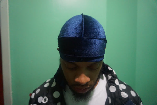 Midnight Blue Velvet Durag