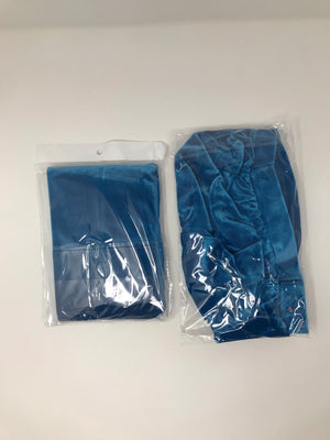 Aqua Blue Durag And Bonnet Velvet Set