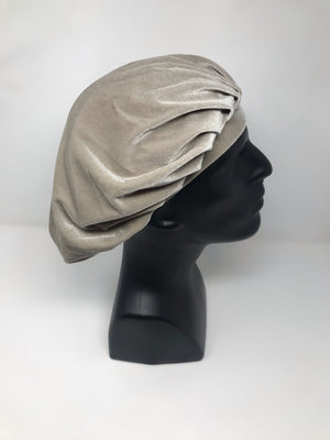 Light Grey Velvet Bonnet
