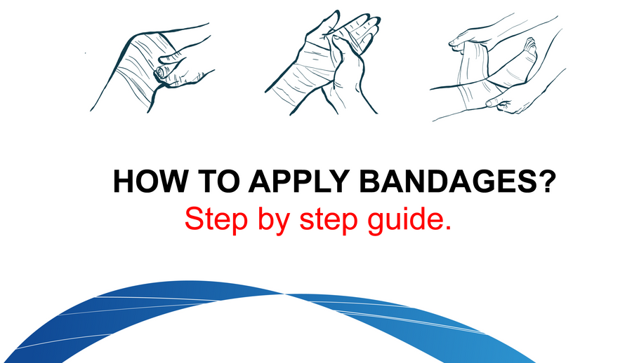 HOW TO APPLY BANDAGES? Step by step guide.