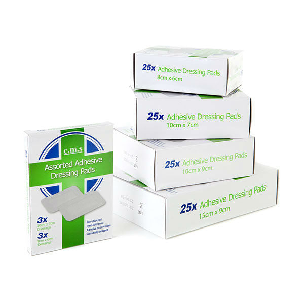 25x Adhesive Dressing Pads DIFFERENT SIZES