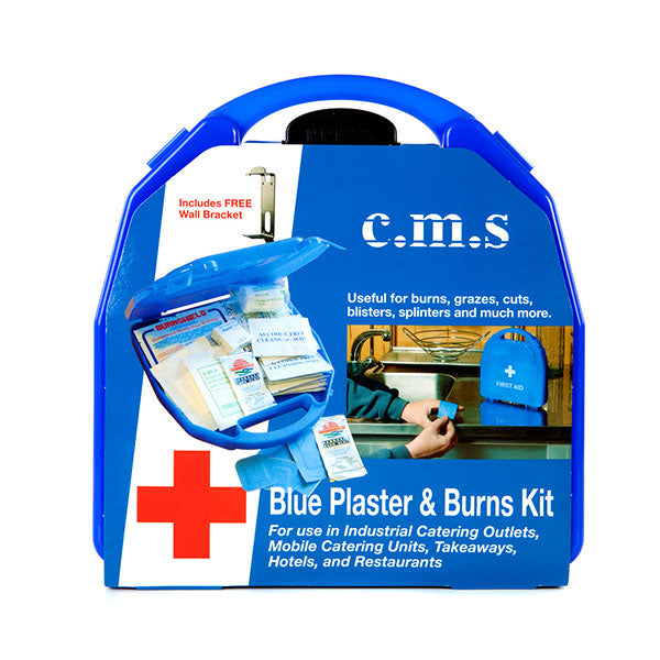 CMS M2 Blue Plaster & Burns First Aid Kit