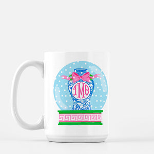 Chinois Snow Globe Personalized Holiday Mug