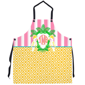 Cockatoo Crest Personalized Apron, Watermelon