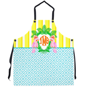 Cockatoo Crest Personalized Apron, Calypso