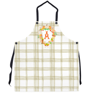 Custom Fall Crest Personalized Apron, Taupe