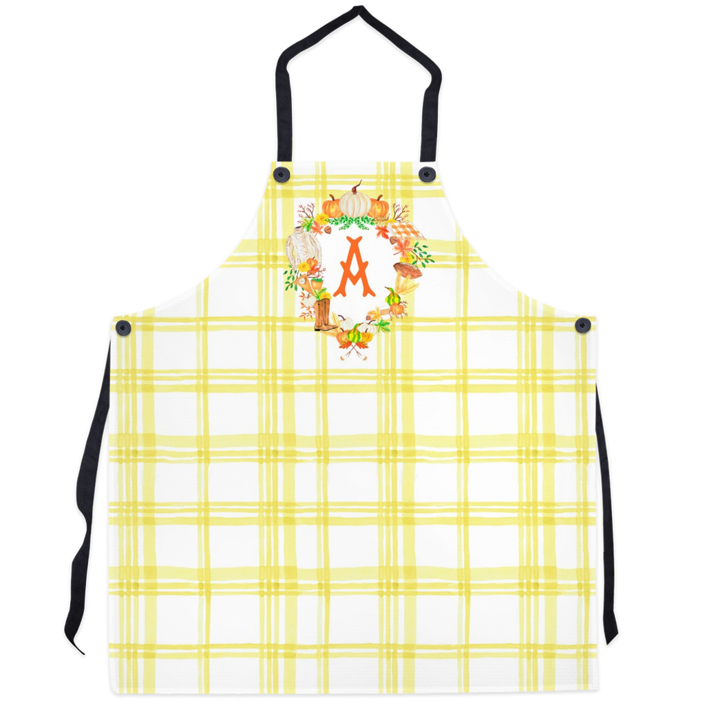 Custom Fall Crest Personalized Apron, Butternut