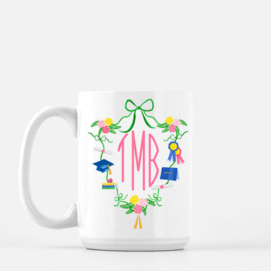 Graduation Crest with Monogram Personalized Mug