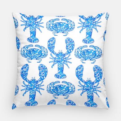 Chinois Lobsters & Crabs, Indigo, 20