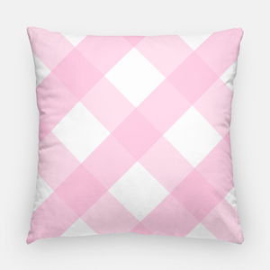 "Spring Staffies Easter 20""x20"" Pillow Cover, Pink"