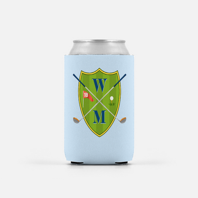 Men's Custom Golf Crest Can Coolers, Set of 2