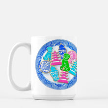Load image into Gallery viewer, *SALE* Chinoiserie Christmas Cookies Holiday Porcelain Mug
