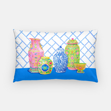 Load image into Gallery viewer, Haute Chinoiserie Ginger Jars Pillow Cover,  2 colors available