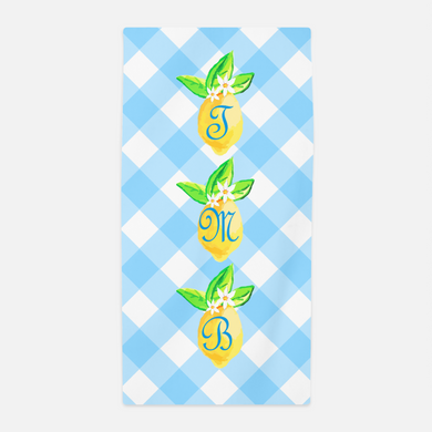 Lovely Lemon, Orchard Skies, Personalized Beach Towel