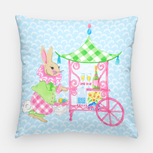 "Load image into Gallery viewer, Easter Bar Cart 20""x20"" Pillow Cover, Blue"