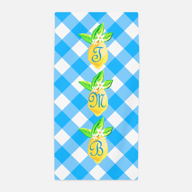 Lovely Lemon, Grove Picnic, Personalized Beach Towel