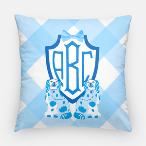Blue Staffordshire Shield Custom Crest Pillow