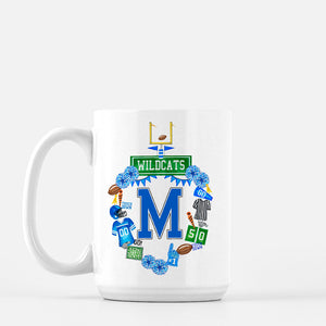 Custom Football Crest Personalized Mug