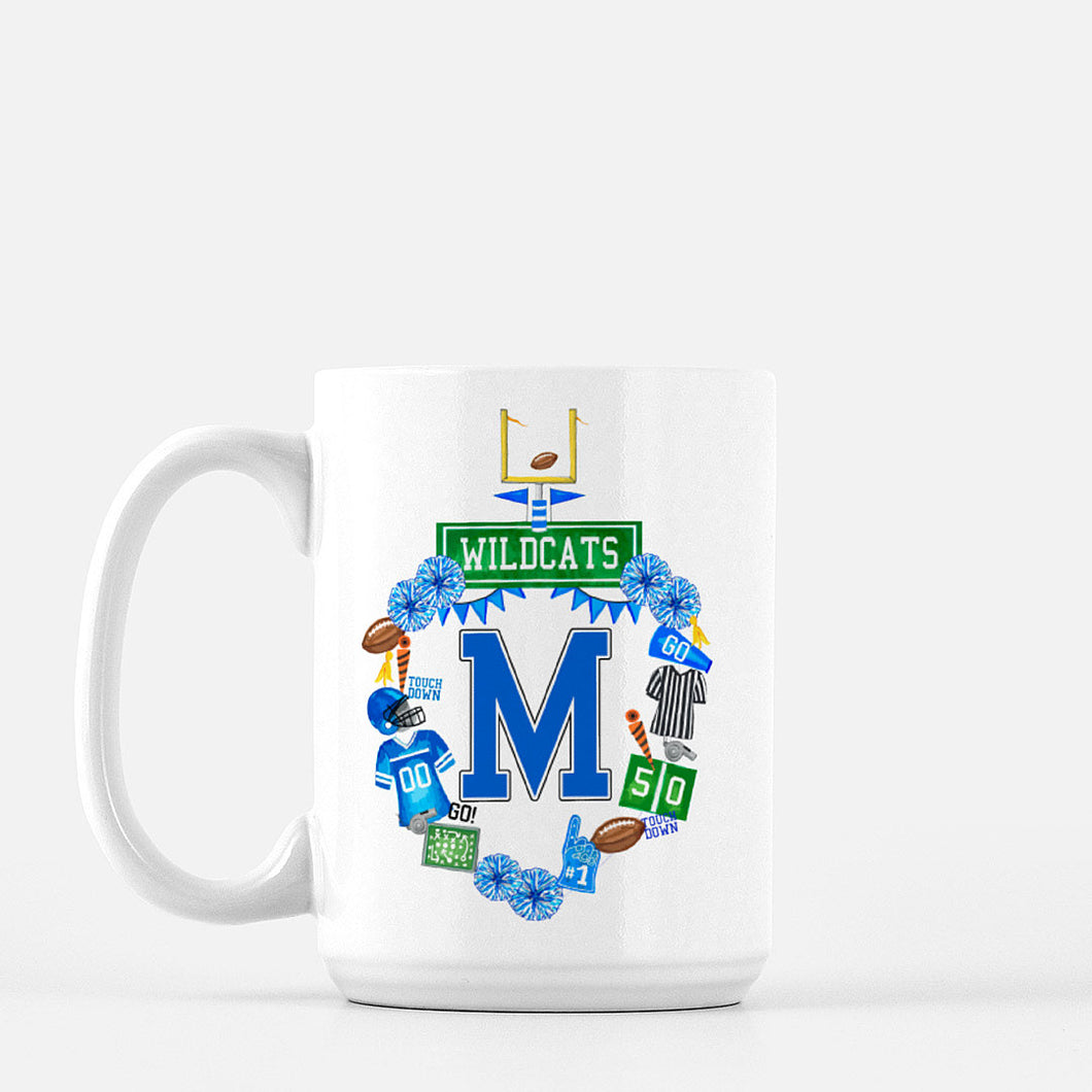 Design Your Own Football Crest in YOUR COLORS  Personalized Mug