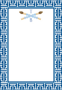 Chinois Scribe Personalized Notepad, Multiple Sizes Available, Navy