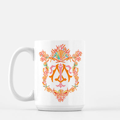 Seashell Custom Crest Mug, Seaglass