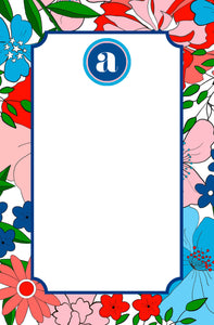 Glory Garden Personalized Notepad, Multiple Sizes Available
