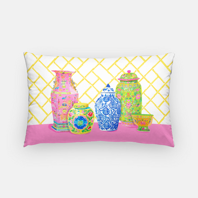 Haute Chinoiserie Ginger Jars Pillow Cover,  2 colors available