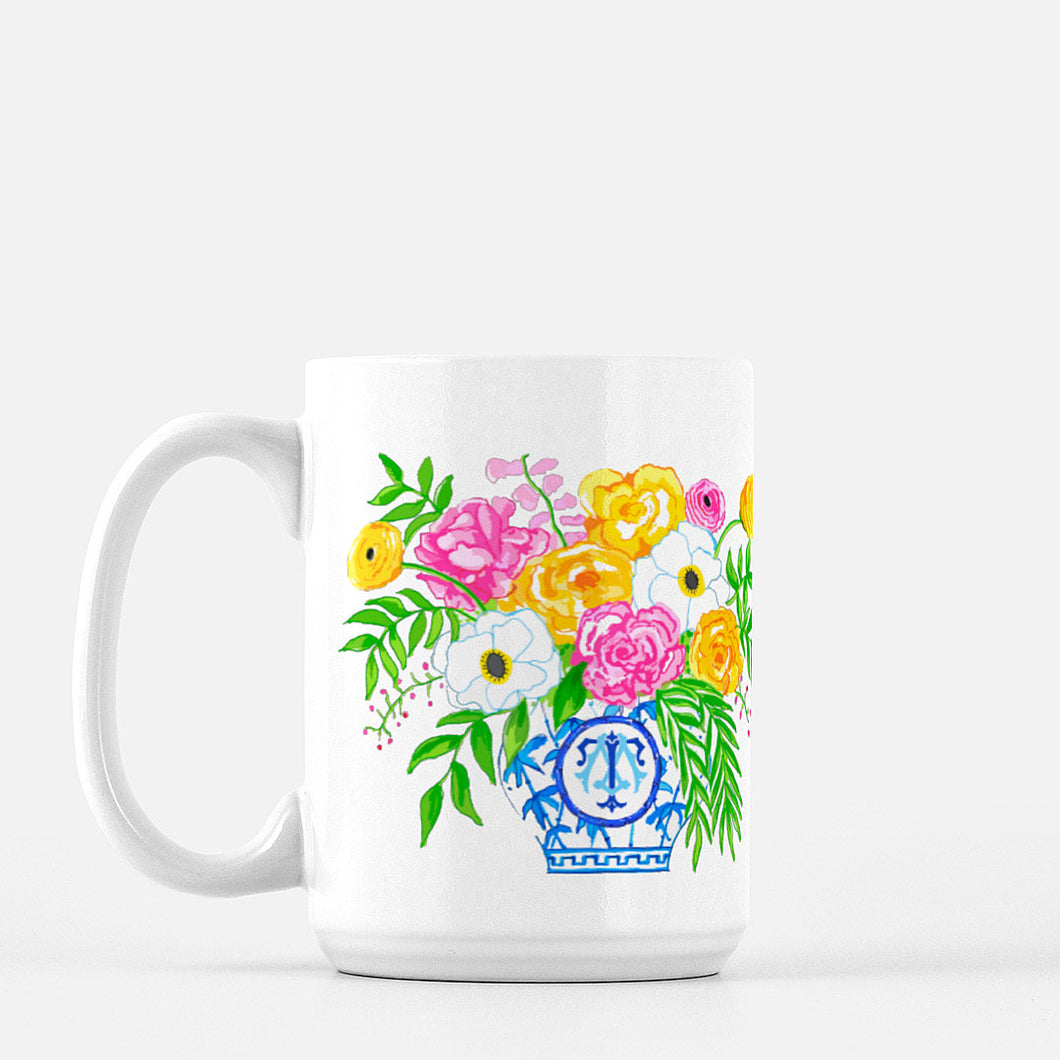 Blossoming Bliss Custom Crest Mug