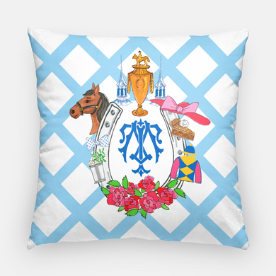 Kentucky Derby-Themed Personalized Pillow Cover, 20