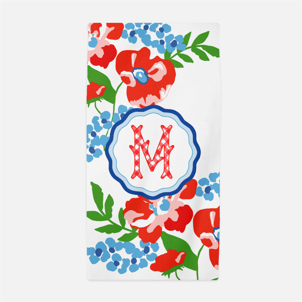 Patriotic Picnic Personalized Beach Towel