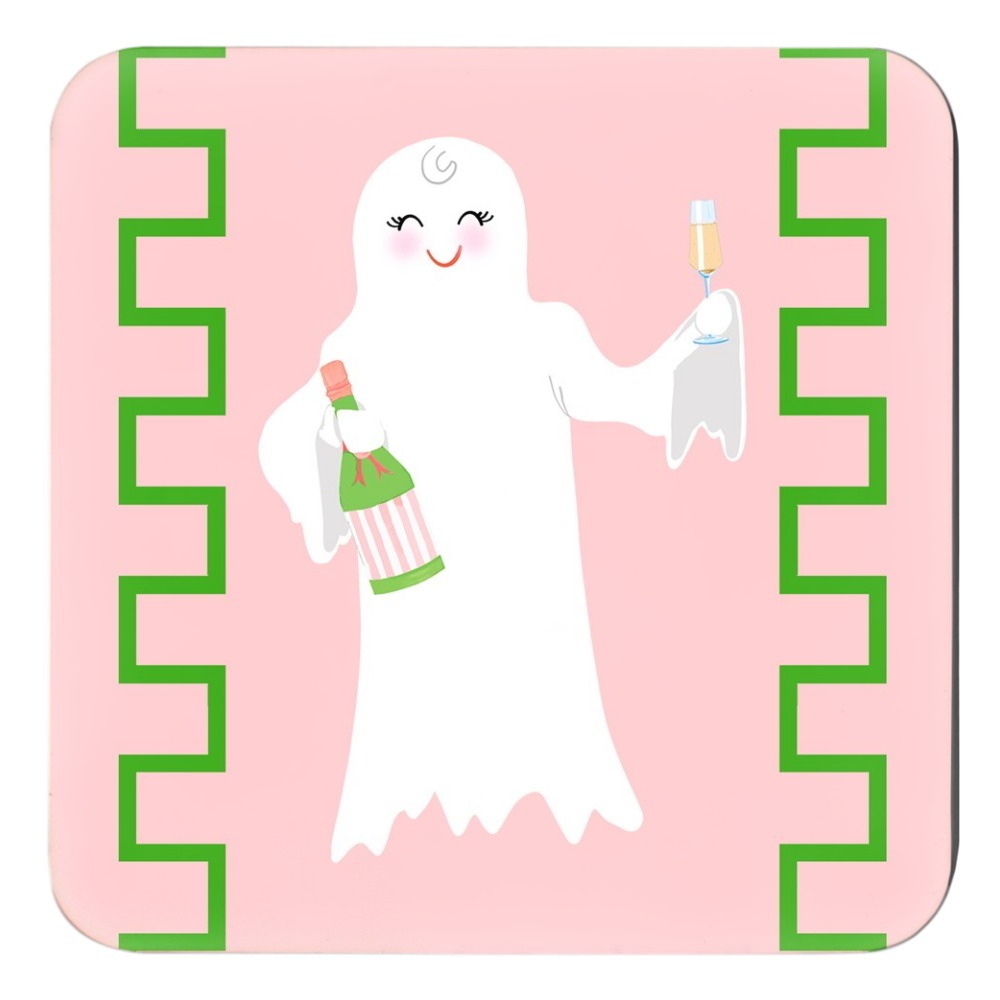 A Ghost to You Cork Backed Halloween Coasters - Set of 4