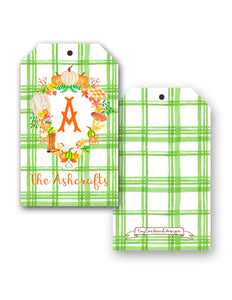 Fall Crest Personalized Hang Tags, Foliage