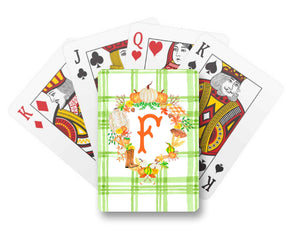 Fall Custom Crest Personalized Playing Cards, Foliage