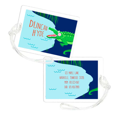 You Croc My World Personalized Laminated Bag Tag