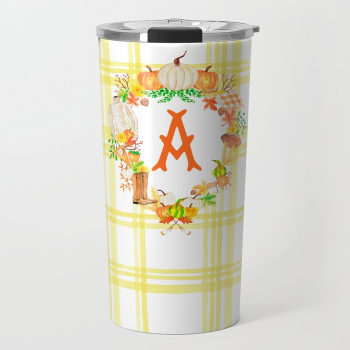 Fall Custom Crest Travel Tumbler, Butternut