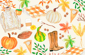 All Things Fall Paper Tear-away Placemat Pad