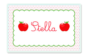 Dotted Apple Children's Personalized Laminated Placemat