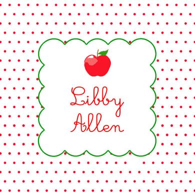 Dotted Apple Personalized Sticker Labels