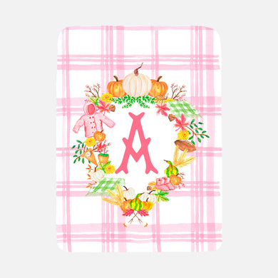 Custom Girls Fall Crest Baby Blanket