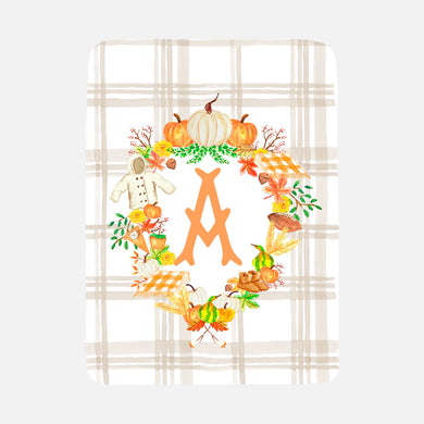 Custom Fall Crest Baby Blanket - Gender Neutral
