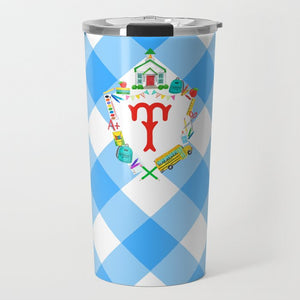 Back to School Personalized Custom Crest Travel Tumbler
