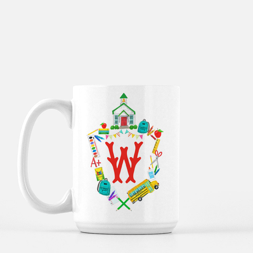 School Crest Personalized Mug
