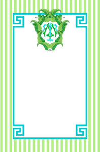 Banana Leaf Crest Personalized Notepad, Bahamas, Multiple Sizes Available