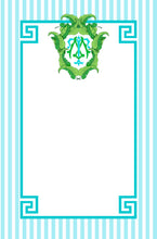 Load image into Gallery viewer, Banana Leaf Crest Personalized Notepad, Caribbean, Multiple Sizes Available