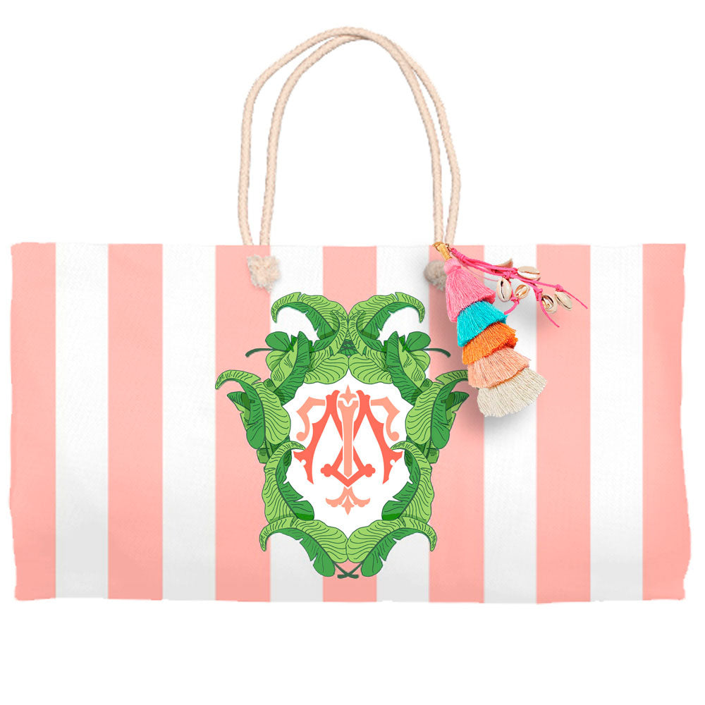 Banana Leaf Crest, Tropicali, Tote Bag